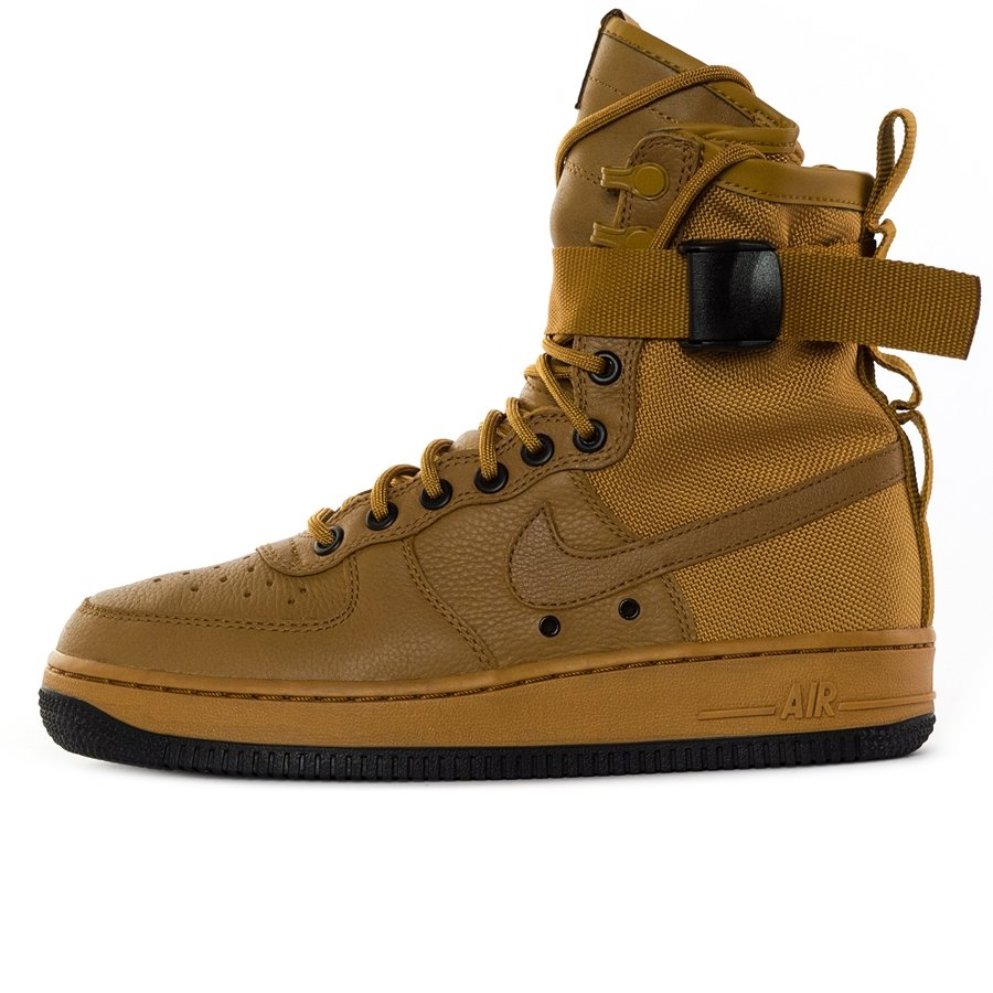 "timeless design 79128 909c6 Nike WMNS SF Air Force 1 ""Wheat"" desert ochre / black (857872-700)"