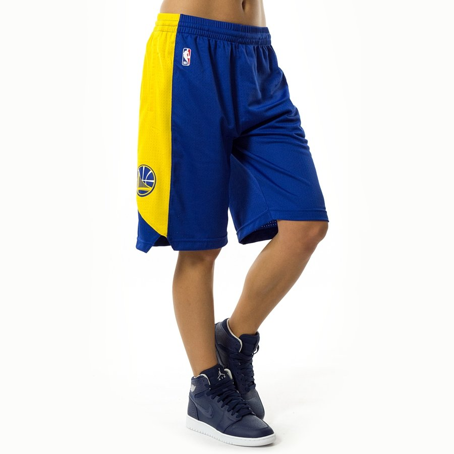 Nike shorts Golden State Warriors yellow (EZ2B7BAST-WAR) Golden ... 02ebead59