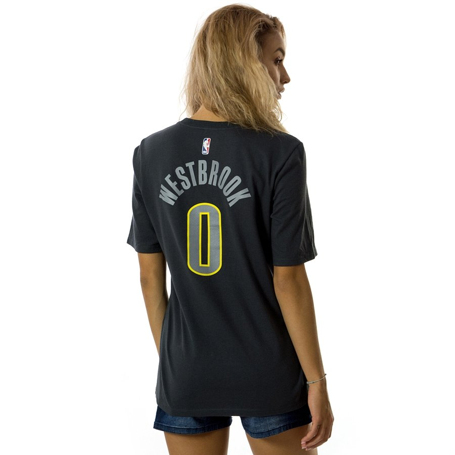 uk availability fc7d4 437b0 Nike t-shirt WMNS City Edition ES Oklahoma City Thunder Russel Westbrook  anthracite / white (EZ2B7NAAC-THURW)
