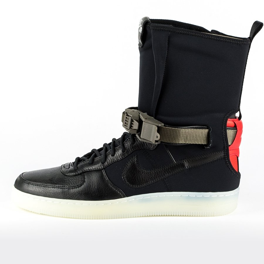 Click to zoom  NikeLAB x Acronym Air Force Downtown 1 Hi SP black   black - bright  crimson ( Click ... d299d36fe