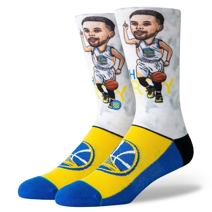 92c8e0093cca Stance socks NBA Stephen Curry Big Head white Stephen Curry ...