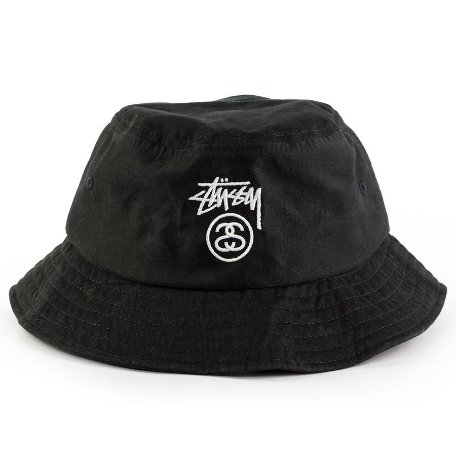 Stussy bucket hat Stock Lock HO17 black | Caps  Buckets ...