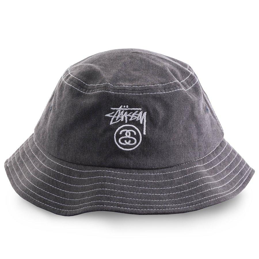 Stussy bucket hat Washed Stock Lock black | Caps  Buckets ...