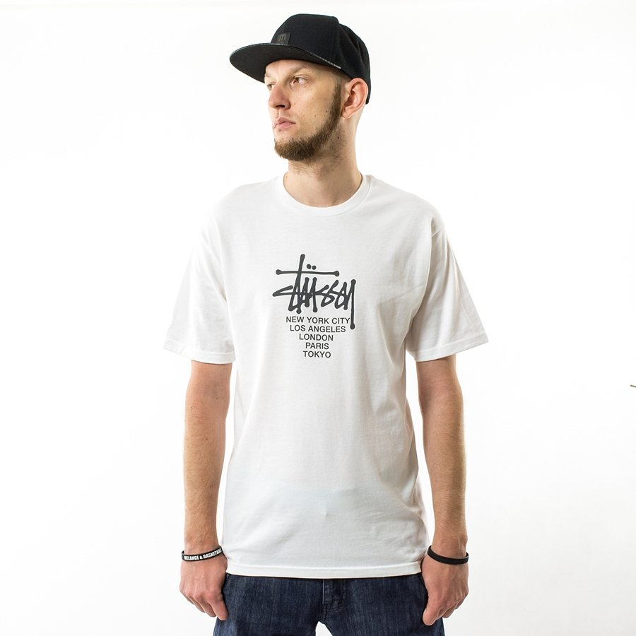 Stussy t-shirt Big Cities Tee white Click to zoom ...
