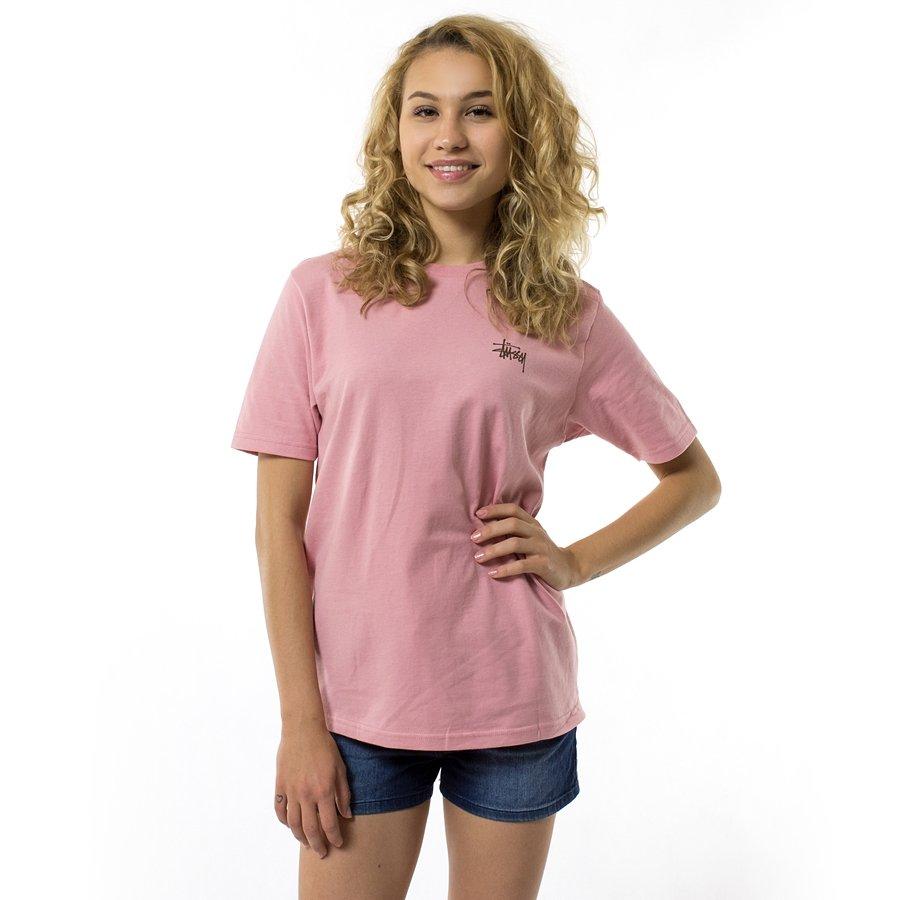 Stussy T Shirt Wmns Basic Stussy Tee Ho17 Dusty Rose T