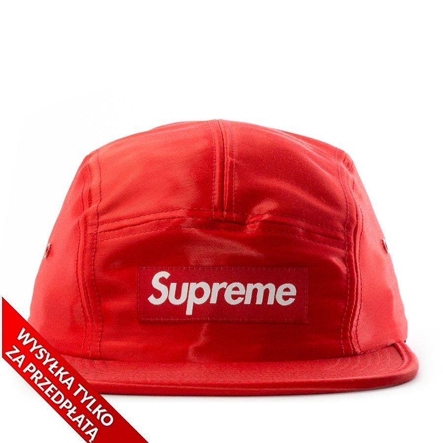 fec5cf96fab8b Supreme 5-panel Liquid Silk Camp Cap red
