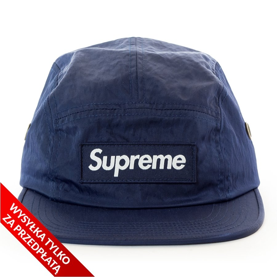 Supreme 5-panel Washed Nylon Camp Cap navy  b783fa9eac2