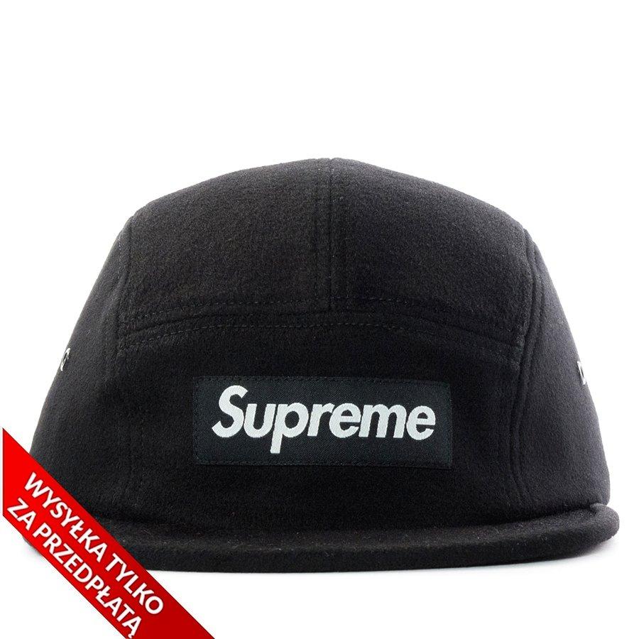 e930969ae Supreme 5-panel Wool Camp Cap black