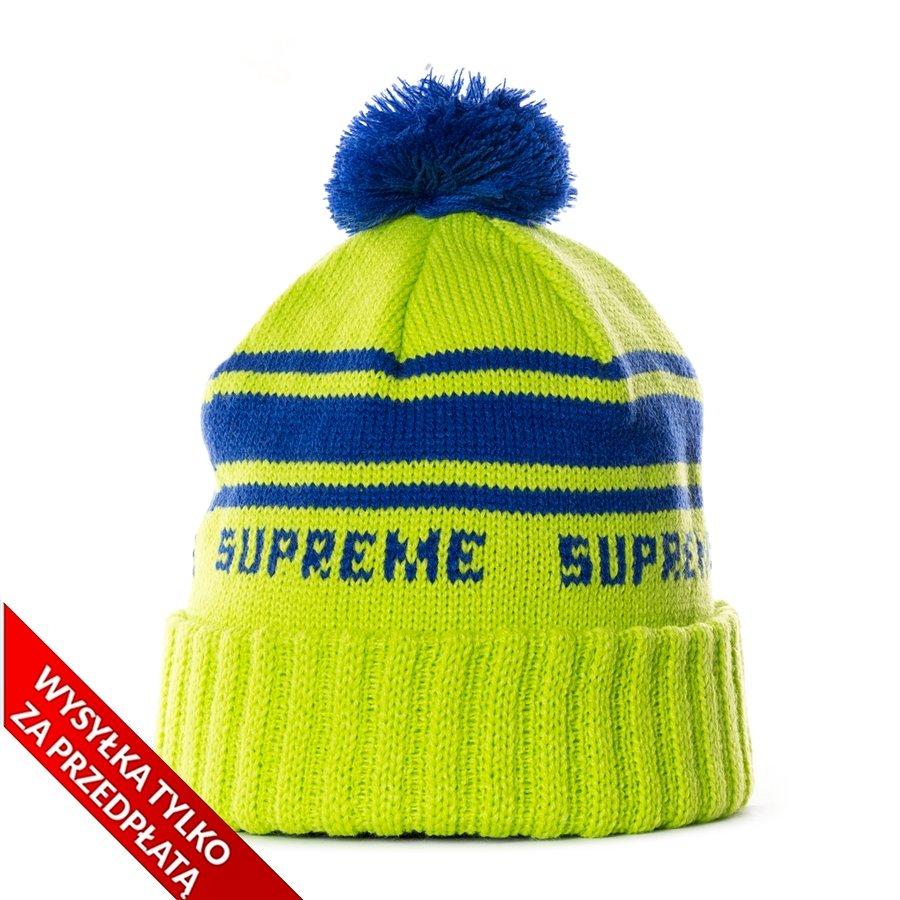 86486ae08d1 Supreme Classic Stripe Beanie green Neon Green   Royal