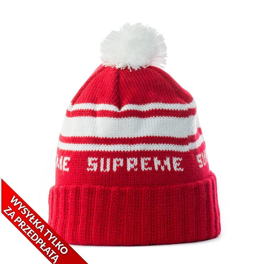 c3b4c5aef6ed6 Supreme Classic Stripe Beanie red Red   White