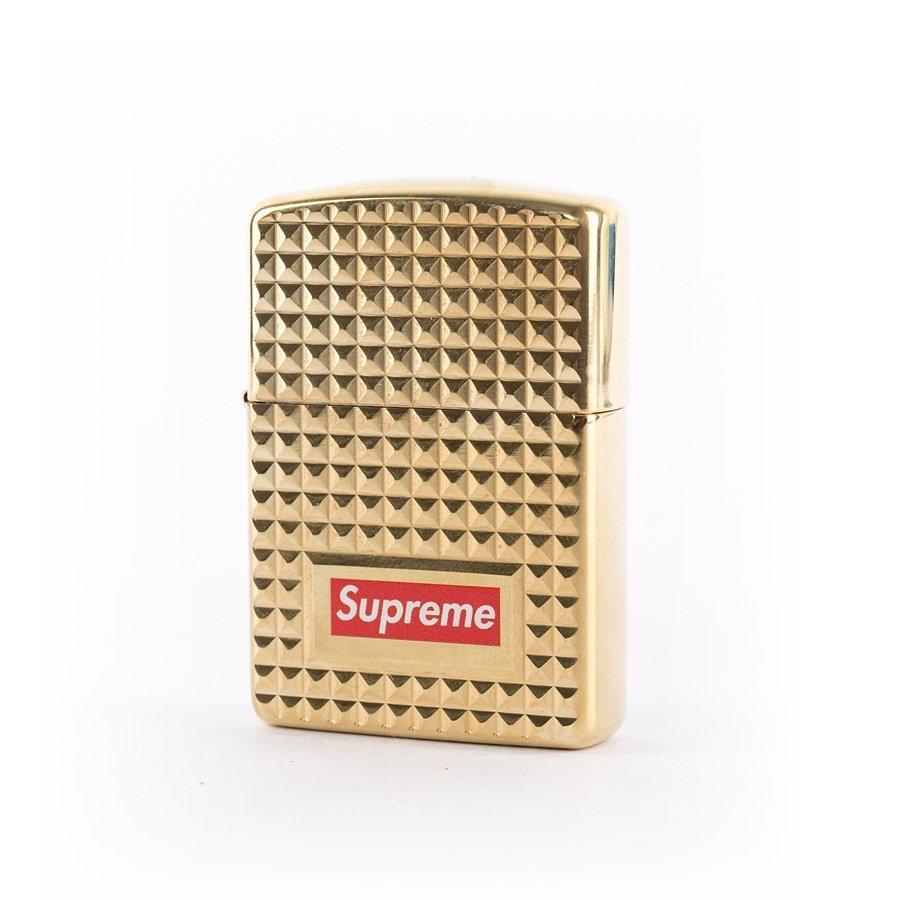 Supreme Diamond Cut Zippo gold