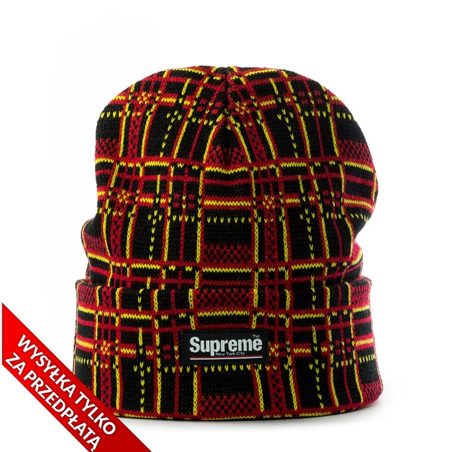 Supreme Plaid Beanie black  974630996