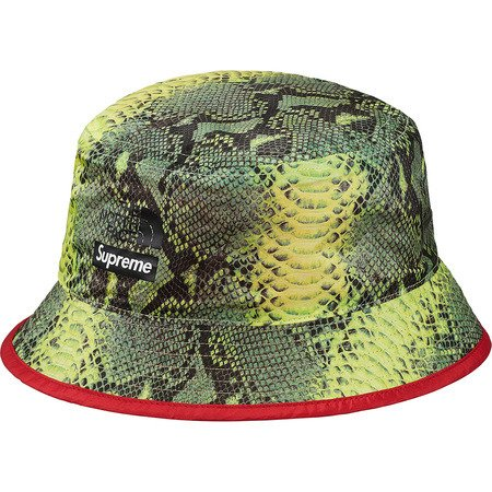 0394adee7 Supreme The North Face bucket hat Snakerskin Packable Reversible Crusher  green / red