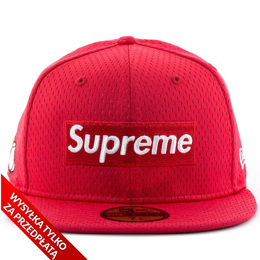 26e34062 Supreme cap fitted Mesh Box Logo New Era 59FIFTY red | Caps \ Fitted ...