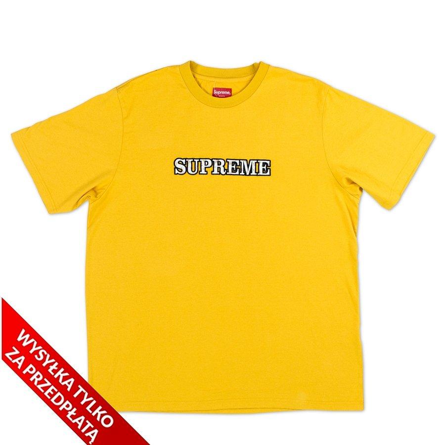 Supreme T-shirt Floral Logo Tee Gold | T-Shirts  T-Shirts ...