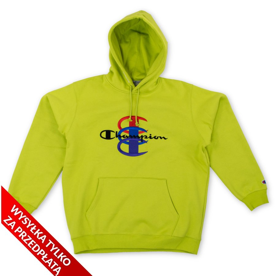 9d7feb75 Supreme x Champion Stacked C Hooded Sweatshirt bright green Click to zoom  ...