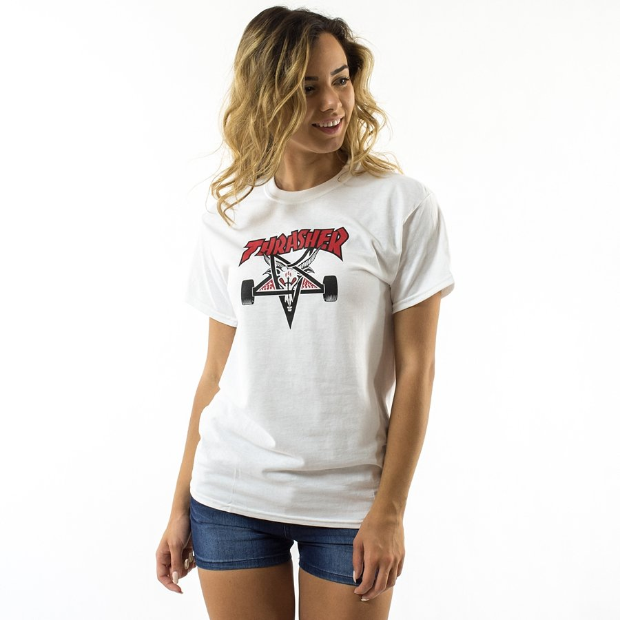 55ec0fe2b78a Thrasher t-shirt WMNS Two Tone Skategoat white Click to zoom ...