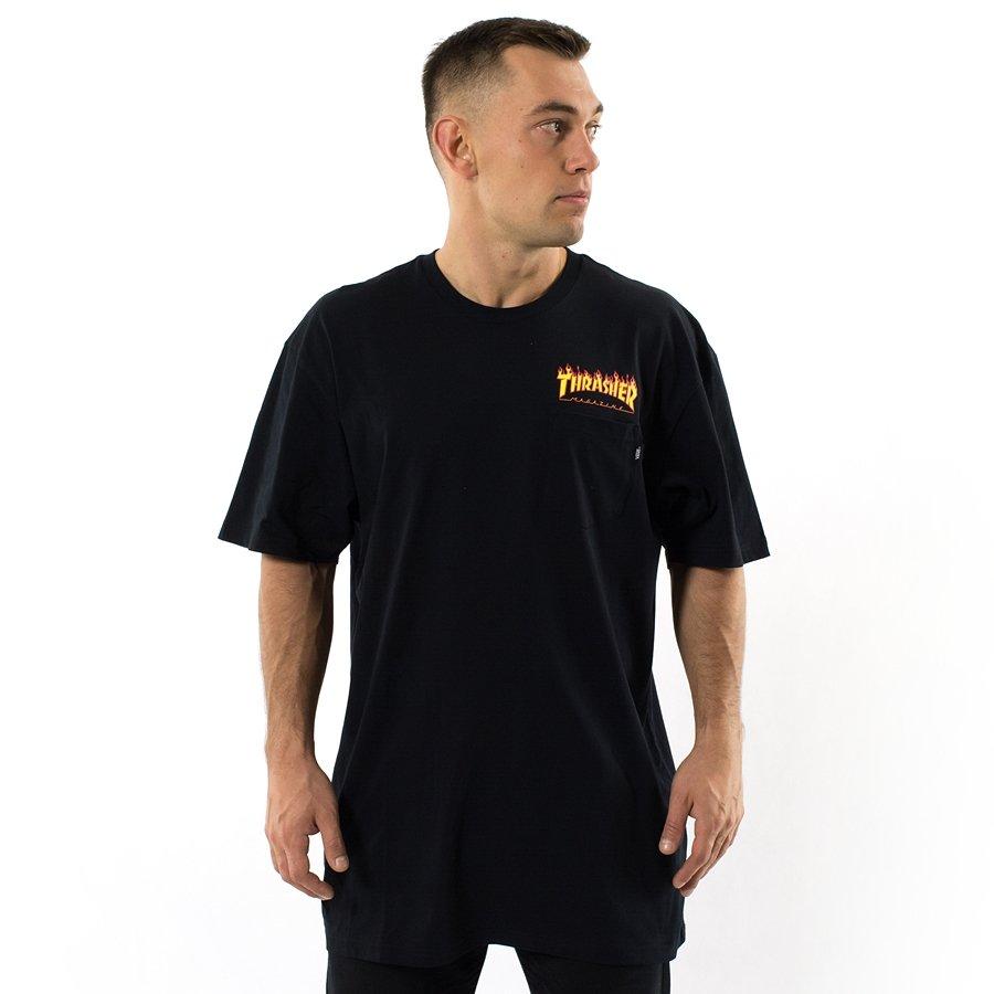 de64e8a82f5 Vans x Thrasher t-shirt Pocket Tee black (VA36M3BLK) TM Click to zoom ...