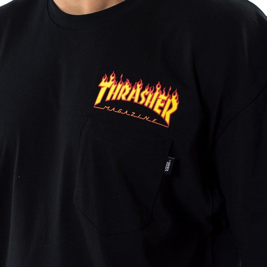 5ea368d505f ... Vans x Thrasher t-shirt Pocket Tee black (VA36M3BLK) TM Click to zoom