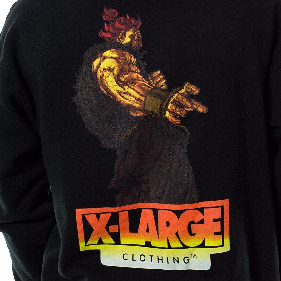 XLarge sweatshirt hoody Street Fighter Alpha Akuma black