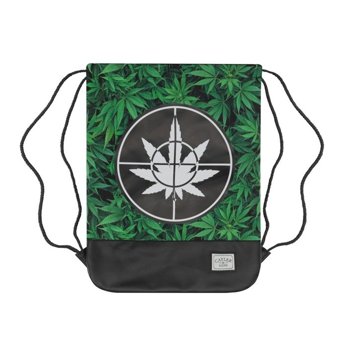 Cayler and Sons gymbag GL Defent Your Crops green leaves / black