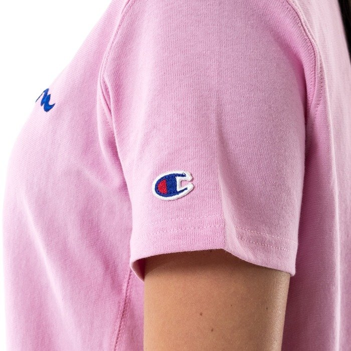 Champion t-shirt Reverse Weave Front Logo top pink SWL (109280S17/2549)