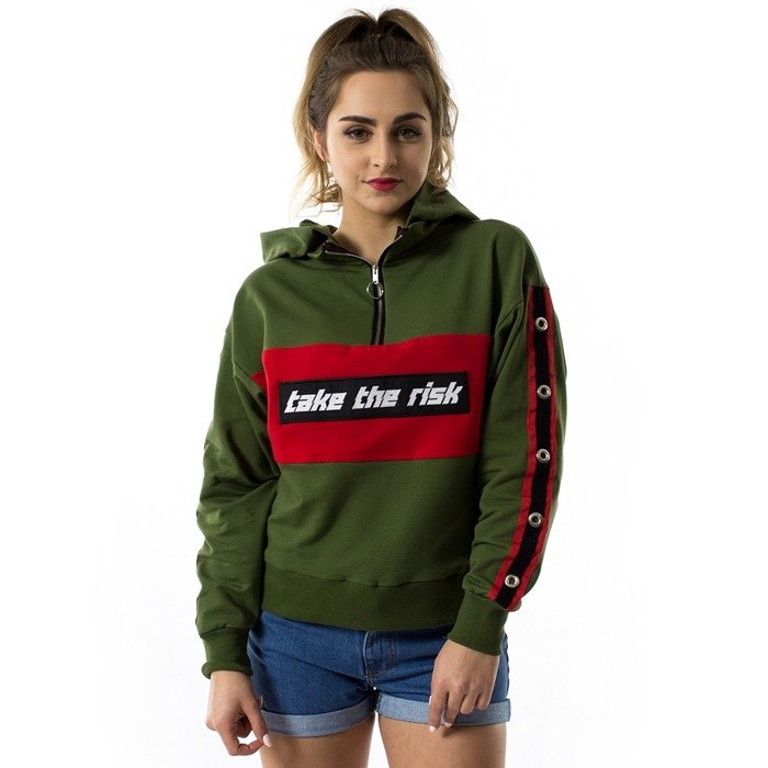 Marska hoody Take The Risk khaki