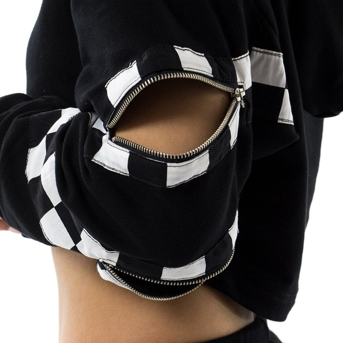 Marska sweatshirt short hoodie Checkerboard black