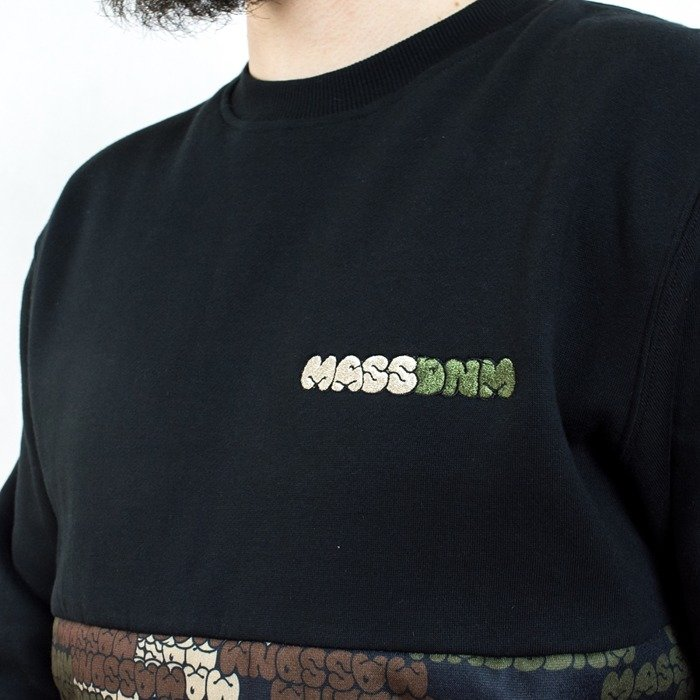 Mass Denim sweatshirt crewneck Phat Camo black