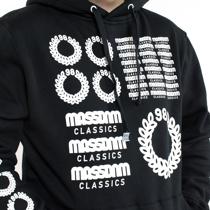 Mass Denim sweatshirt hoody Display black
