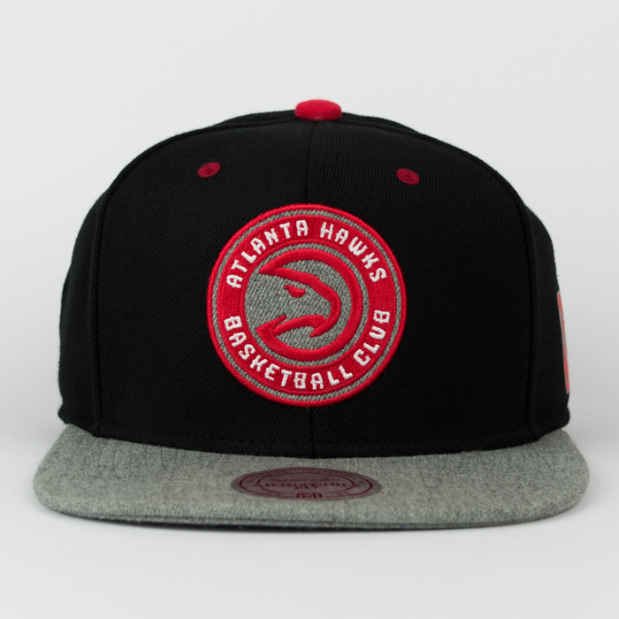 Mitchell & Ness snapback Grey Tist Atlanta Hawks black / grey