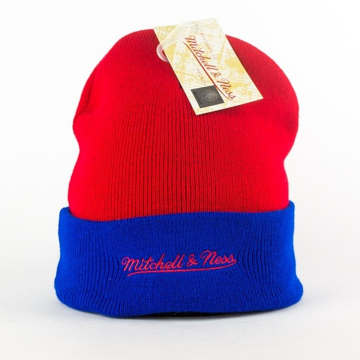 0ee72b8e249 Click to zoom · Mitchell and Ness Arched Cuff Knit Los Angeles Clippers red    blue
