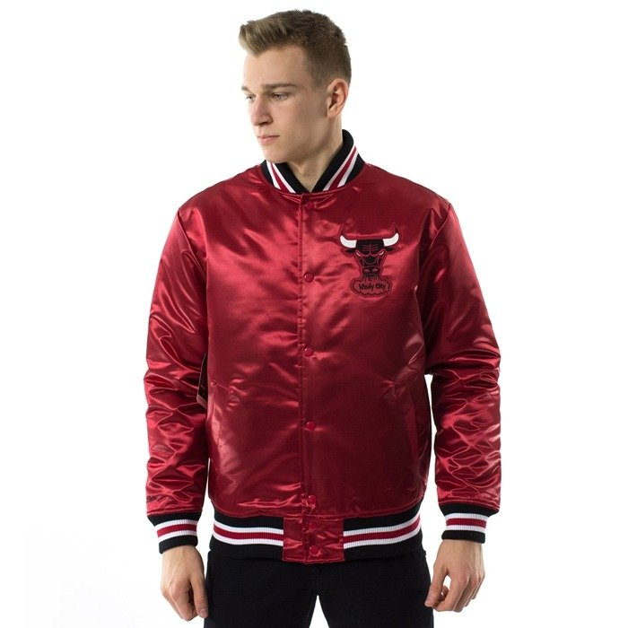 Mitchell and Ness NBA Satin Jacket Chicago Bulls red