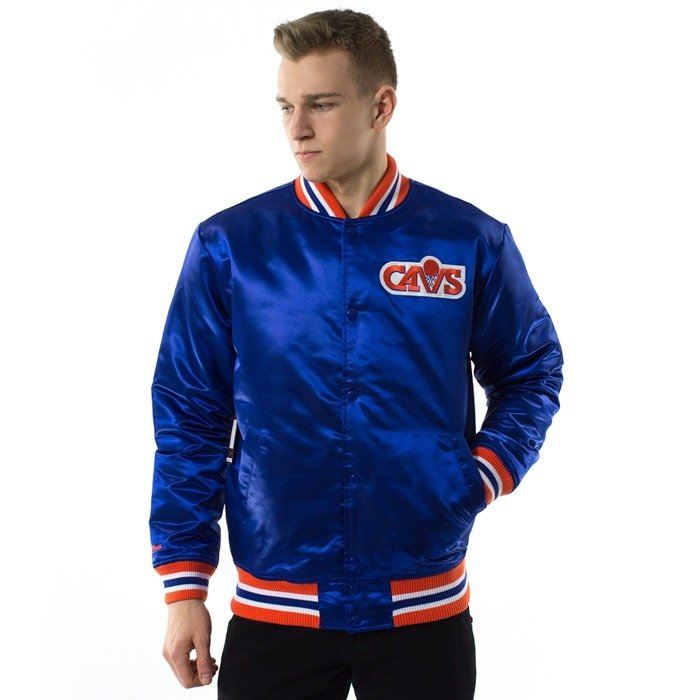 Mitchell and Ness NBA Satin Jacket Cleveland Cavaliers royal