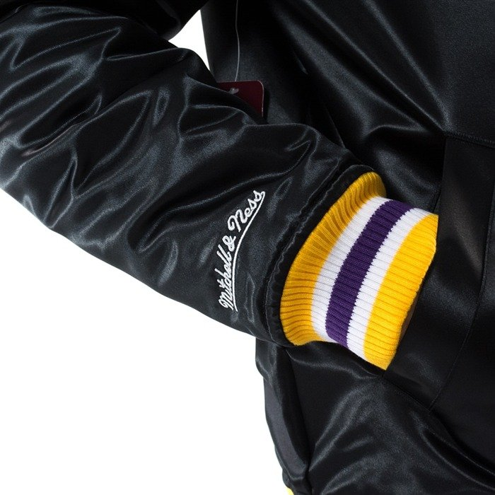 Mitchell and Ness NBA Satin Jacket Los Angeles Lakers black
