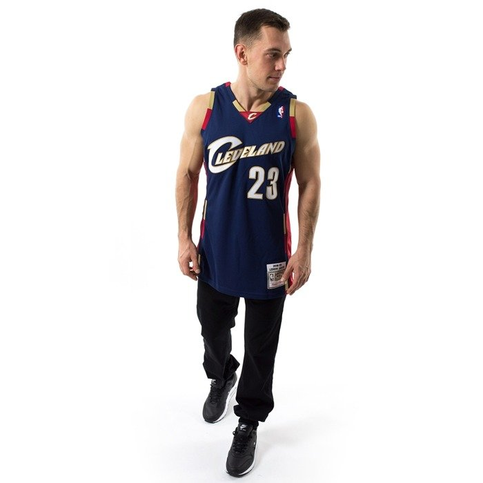 Mitchell and Ness Swingman Jersey HWC Cleveland Cavaliers LeBron James navy
