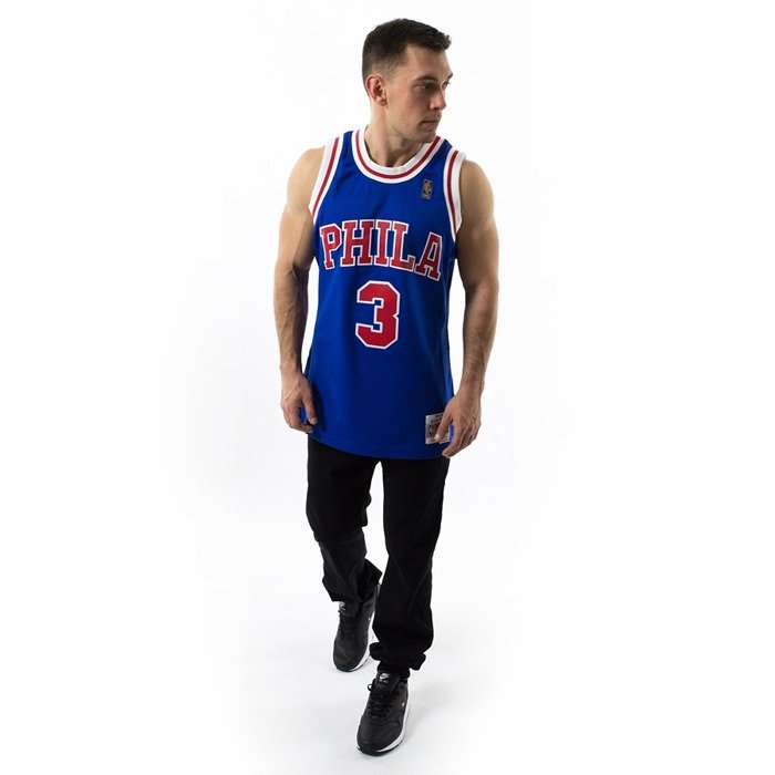 Mitchell and Ness Swingman Jersey HWC Philadelphia 76ers Allen Iverson blue