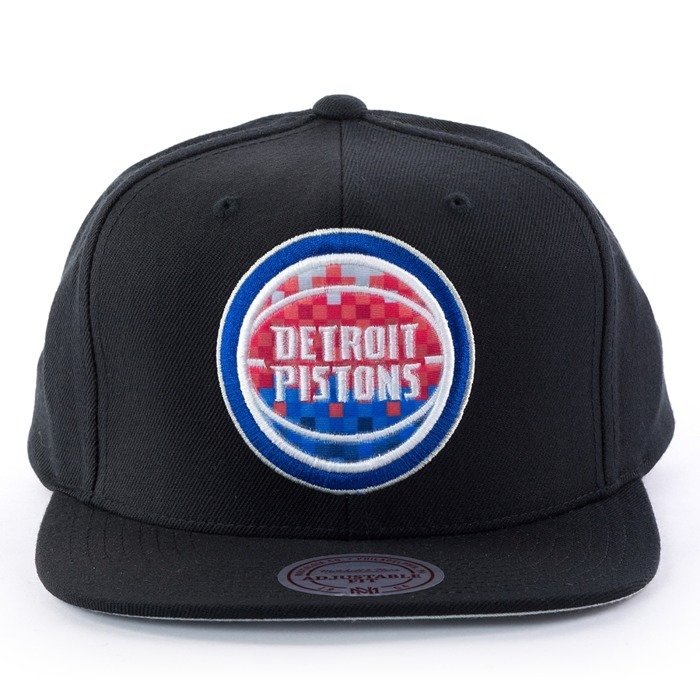 Mitchell and Ness snapback Easy Three Digital XL Detroit Pistons black