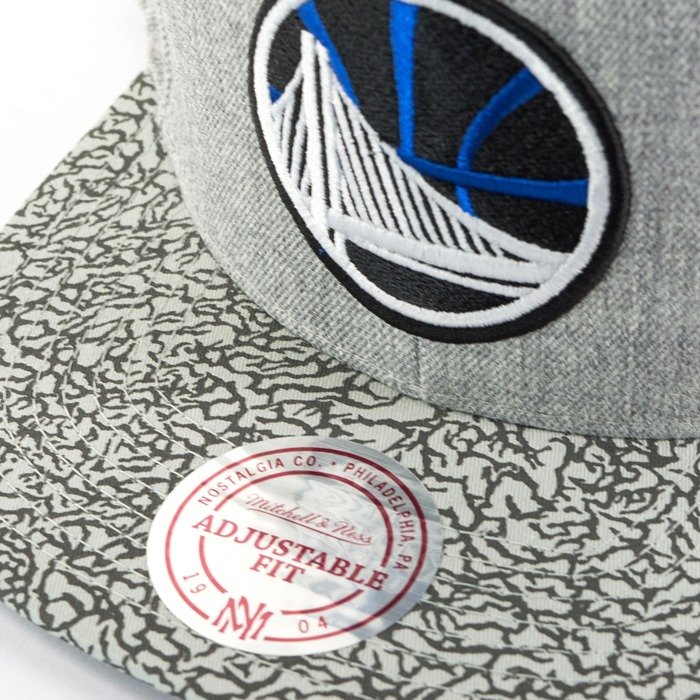 014d43ece4115 Click to zoom · Mitchell and Ness snapback Elephant Crack Golden State  Warriors grey
