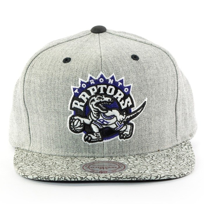 Mitchell and Ness snapback Elephant Crack Toronto Raptors grey
