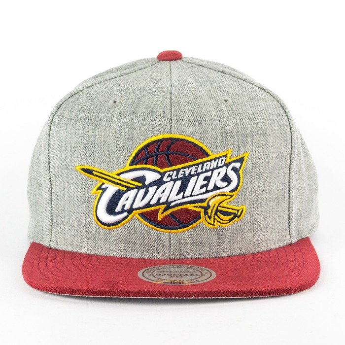 Mitchell and Ness snapback Heather Micro Cleveland Cavaliers grey heather / burgundy