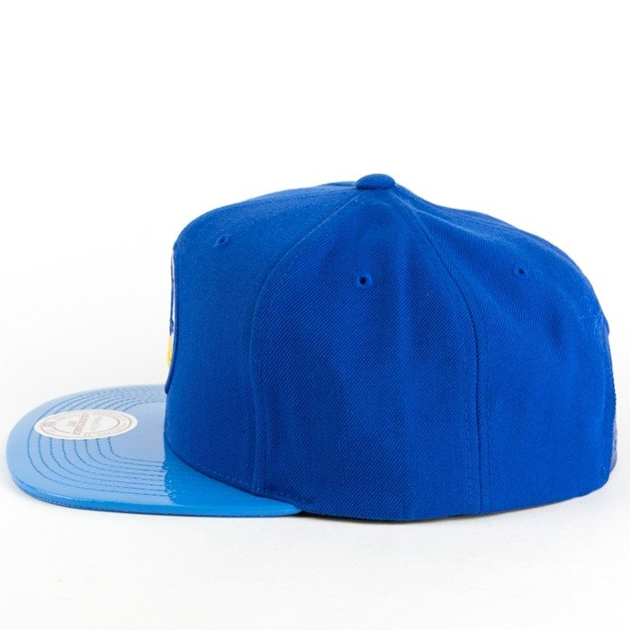 new style 07913 7d135 ... nba patent cropped snapback cap eaa7d f6982  closeout click to zoom  mitchell and ness snapback patent 2 tone golden state warriors blue 95e5d