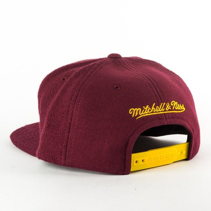 Mitchell and Ness snapback Tonal Texture French Terry Cleveland Cavaliers burgundy
