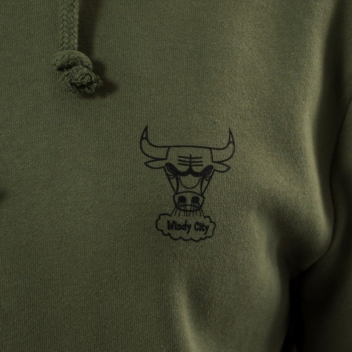 Mitchell and Ness sweatshirt hoody Triple Double Chicago Bulls olive