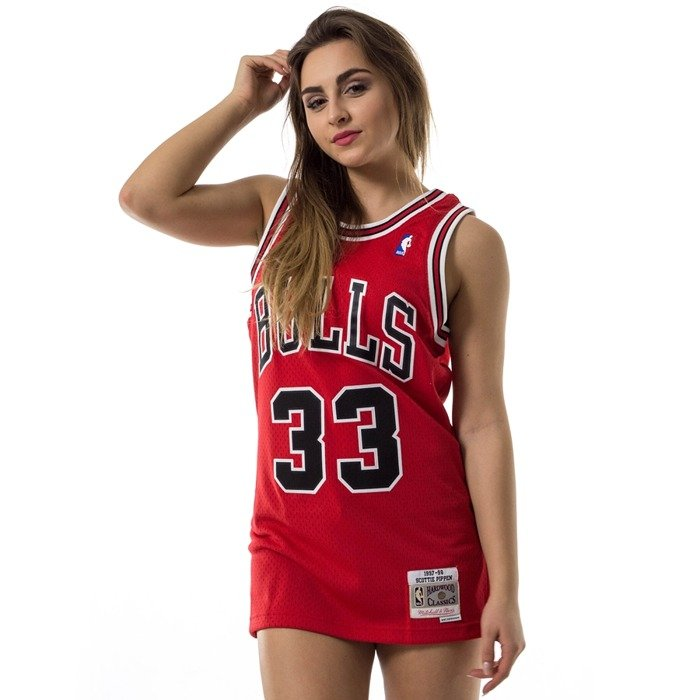Mitchell and Ness swingman jersey Chicago Bulls Scottie Pippen 1997-98 red
