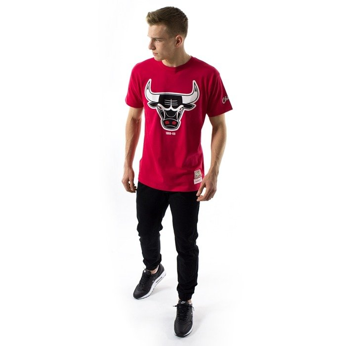 Mitchell and Ness t-shirt Bulls 68-69 Logo Traditional Tee Chicago Bulls red