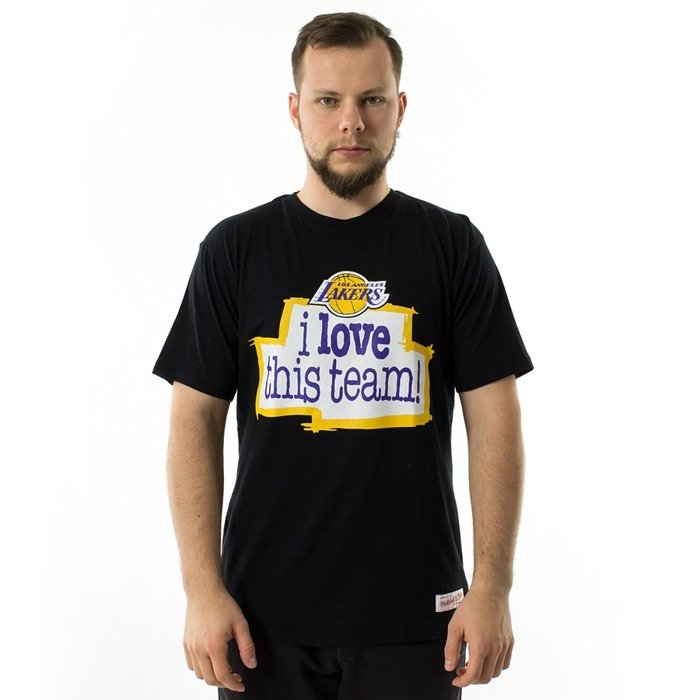 Mitchell and Ness t-shirt I Love This Team Tailored Tee Los Angeles Lakers black