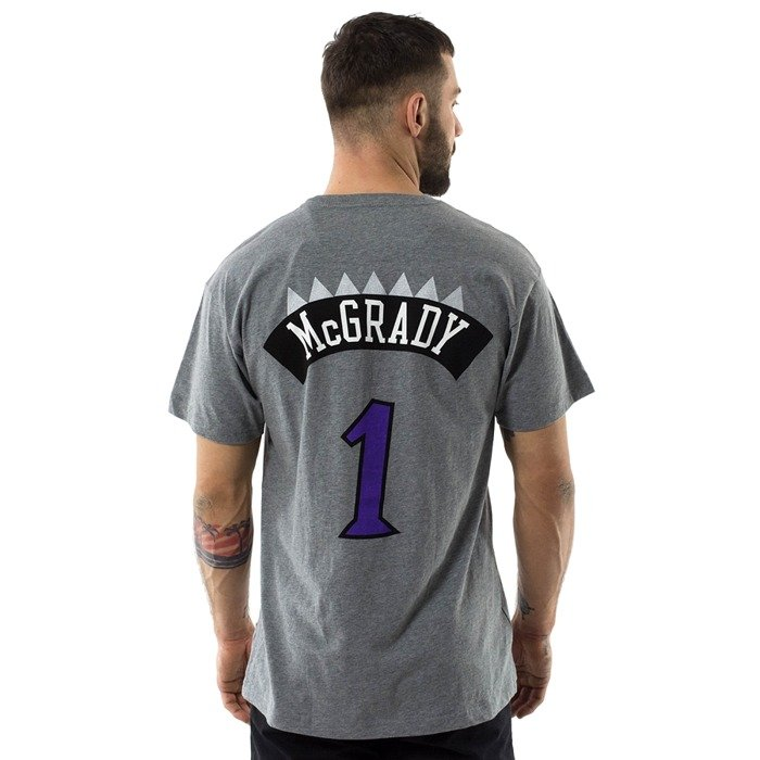 Mitchell and Ness t-shirt McGrady #1 Player Name & Number Toronto Raptors grey