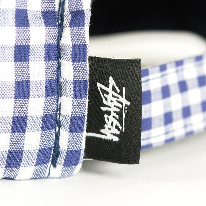 Stussy strapback Gingham Stock blue