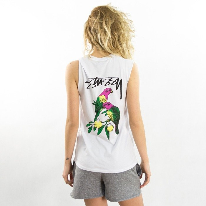 Stussy tank top Parrots Raw Edge Muscle white